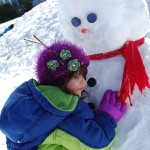 Playing in the Snow, Building A Snowman (With Pictures)