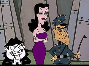 Cold War cartoons Boris Badenov, Natasha Fatale