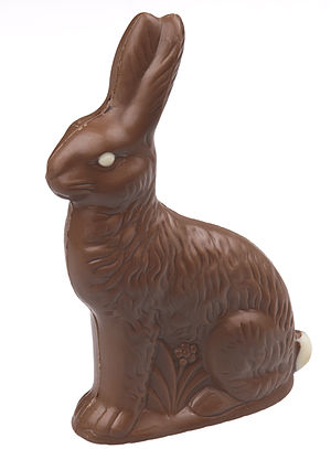 A milk chocolate Easter Bunny.