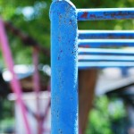 Blue Playground Equipment