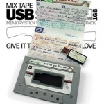 Home taping never killed music: Mixtape USB stick, people