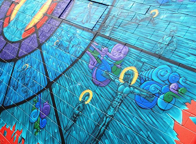 Street art stations of the cross mural just jennifer for Acheter crucifix mural