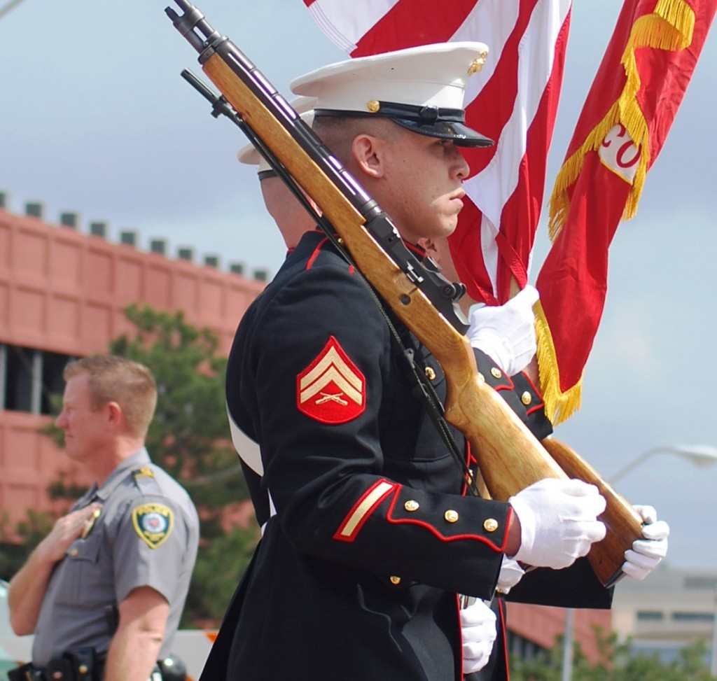 U.S. Marines in Parade