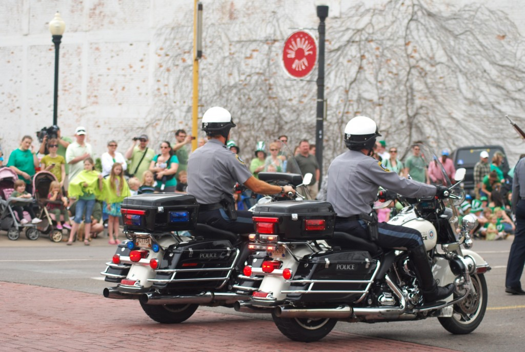 St. Patrick's Day OCPD Motorcycle COps