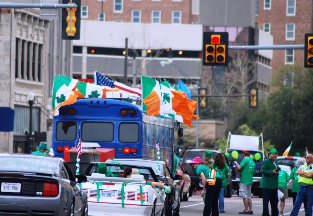 Parade Irish Flags