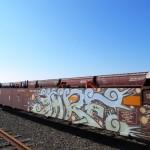 Wildstyle Graffiti: Interlocking Letters on Trains