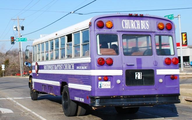 Purple Church Bus