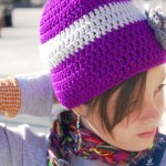 Purple Knitted Hat