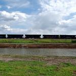 Graffiti Train in Jones, Oklahoma