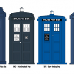 Dr Who Blue police boxes