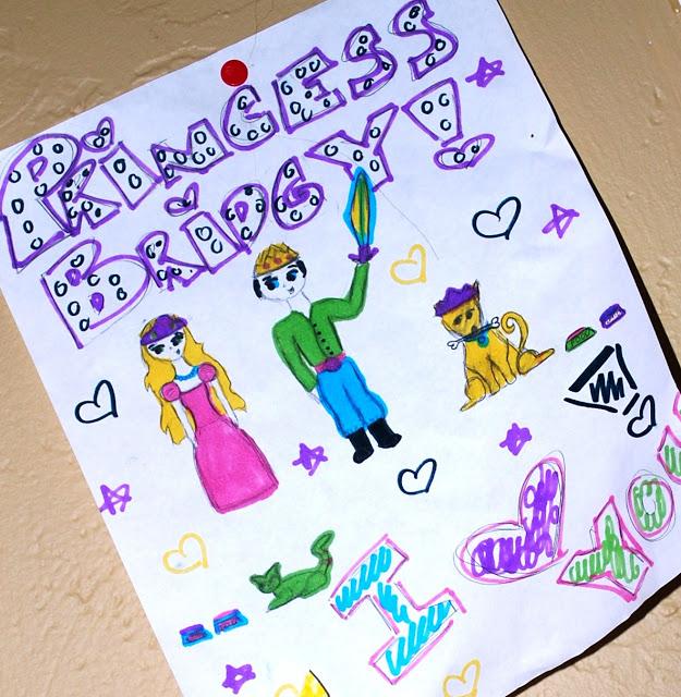 Little girls' drawing of a princess