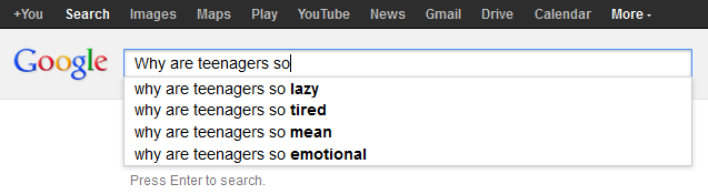 Why are teenagers so