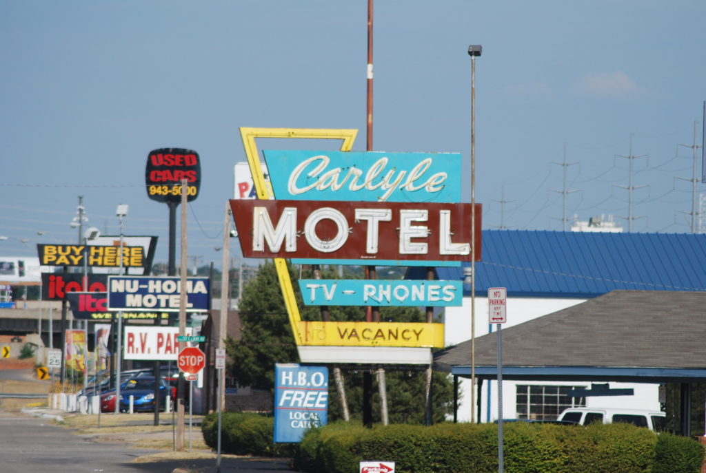 Carlyle Motel Sign on Route 66 Oklahoma City