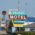 Carlyle Motel Sign on Route 66 Replaced With Backlit Junk