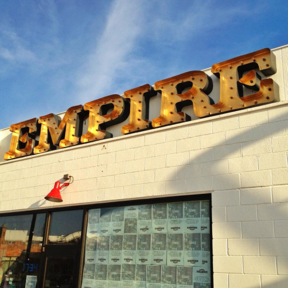 Empire Slice Pizza Sign in the Plaza District