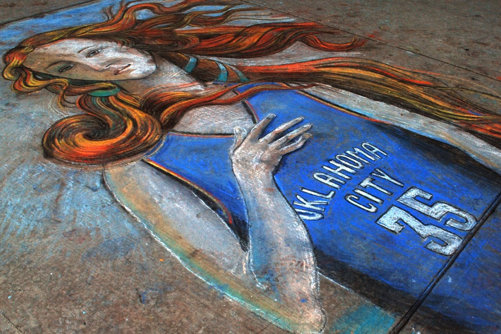 Oklahoma Thunder Chalk Art