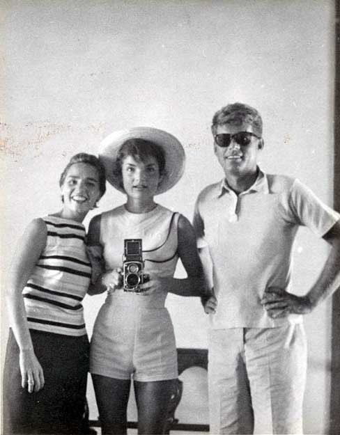 Ethel, Jackie and JFK in 1954