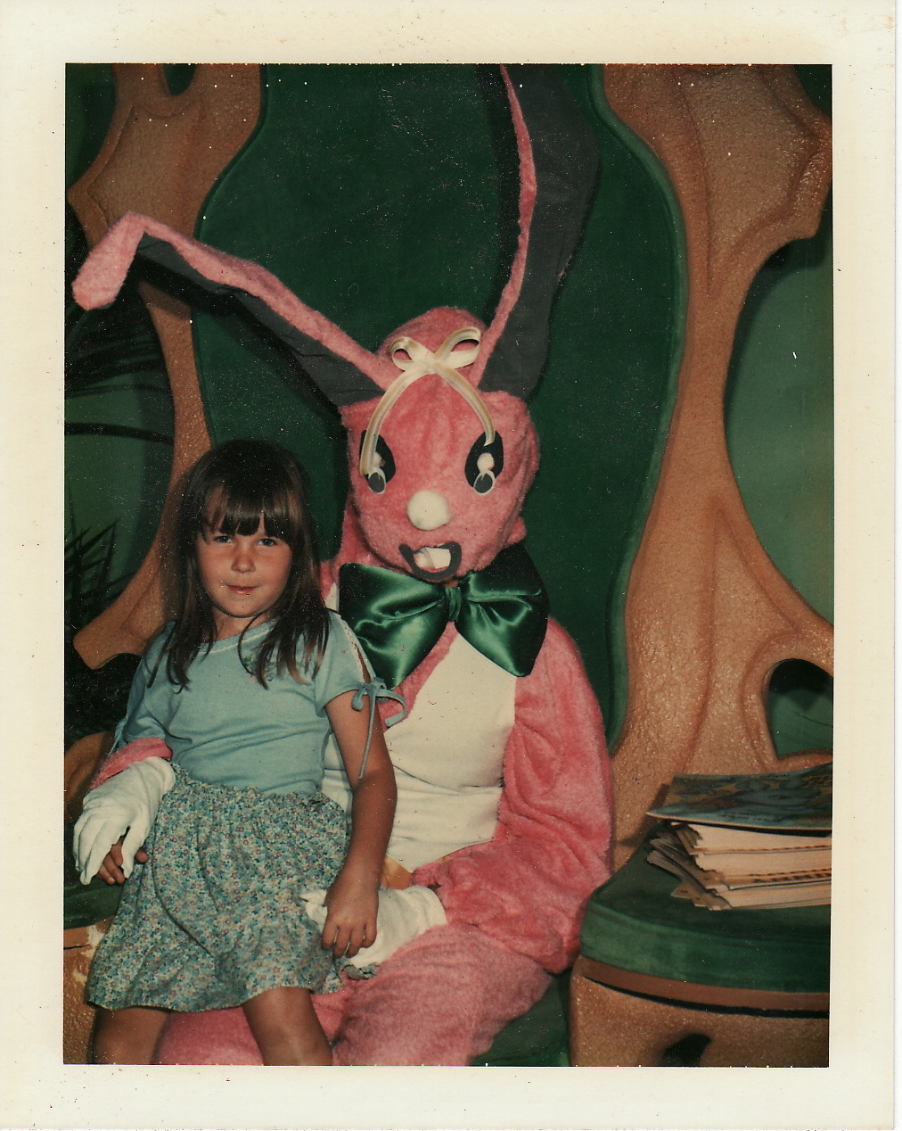Scary Easter Bunny Photos 1980 yellow easter bunny scary