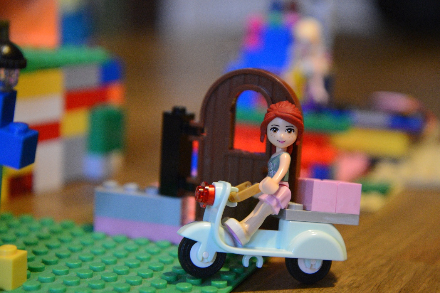 Girl on Lego Scooter