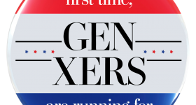 gen-Xers running for president button