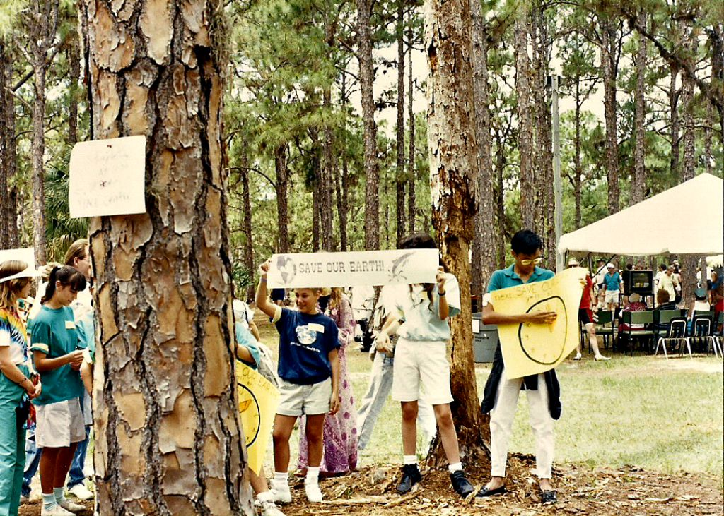 Protests of Generation X | A rare candid photo of an Earth Day celebration held in 1990 on the 20th Anniversary of the event | South Florida | Source