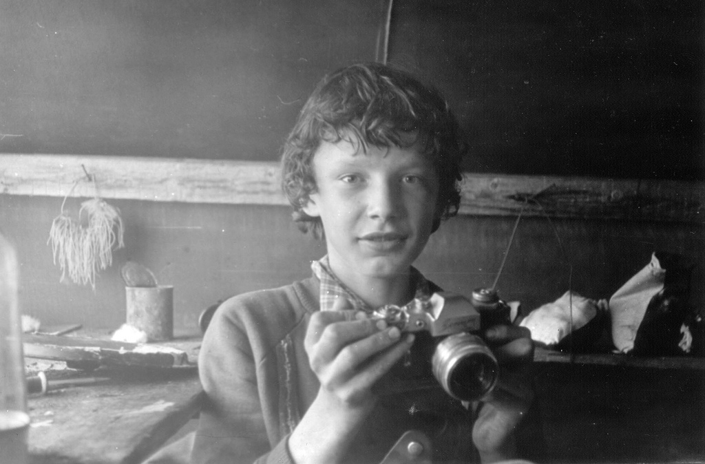 Russian Boy with Camera, 1981