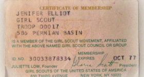 My 1977 Girl Scout Membership Card