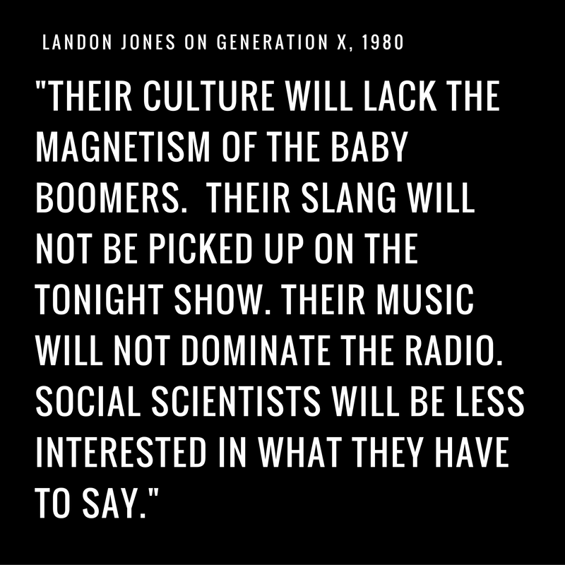 What Boomers Think of Generation X