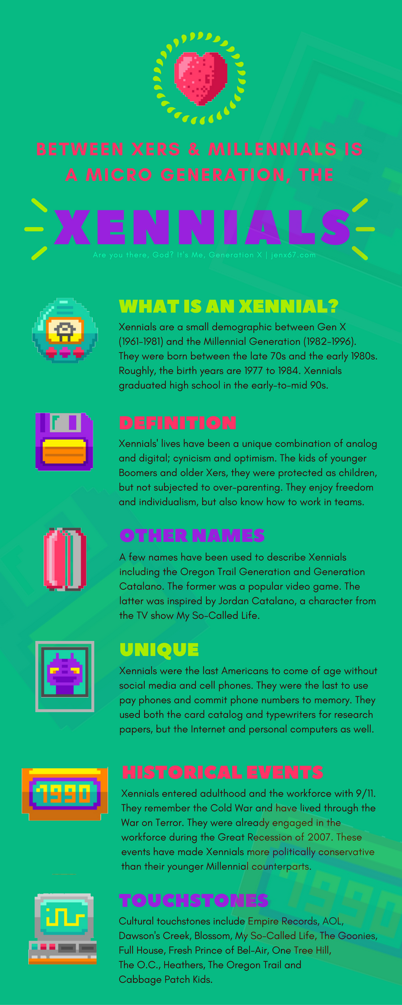 who are the xennials  infographic