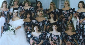 Daily Photo: 13 1990s Bridesmaids in One Southern Wedding