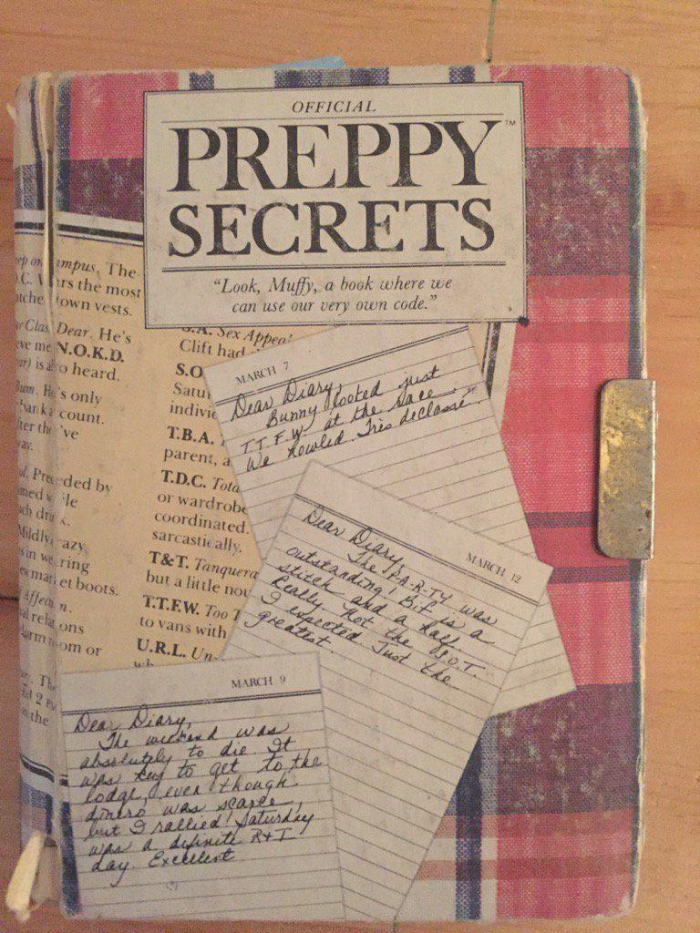 Vintage Preppy Secrets Diary