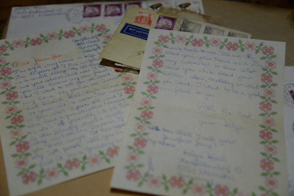 International Youth Service IYS in a pen pal letter from the 1980s