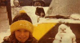 Daily Photo: Tiny Snowman on the Hood