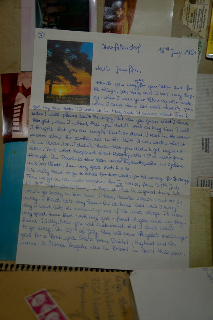 Page 2 of Helgas Letters 1981 German PenPal