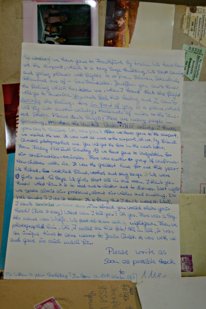 Penpal Letter from Germany expressing awe of United States