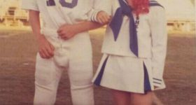 1979 Little League Football Player and Cheerleader   Daily Photo