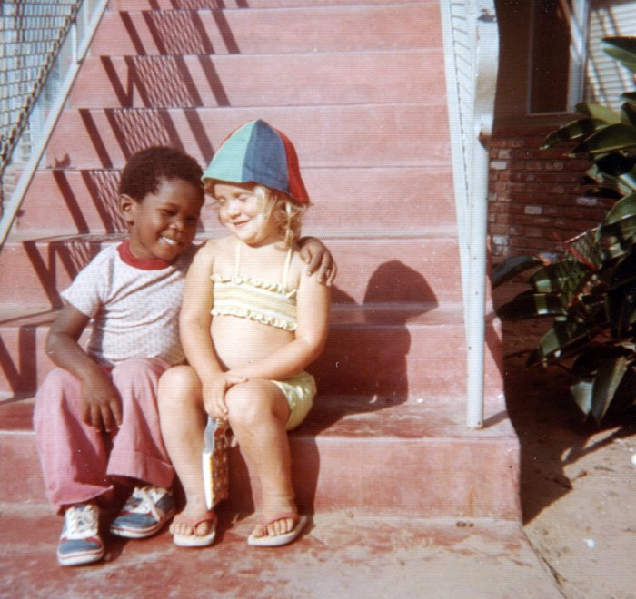 Black Boy and White Girl - Friends in the early 1970s