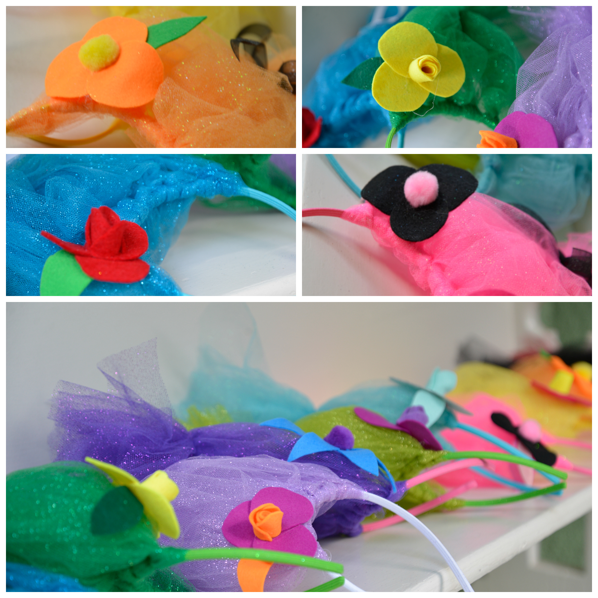 collage troll headbands