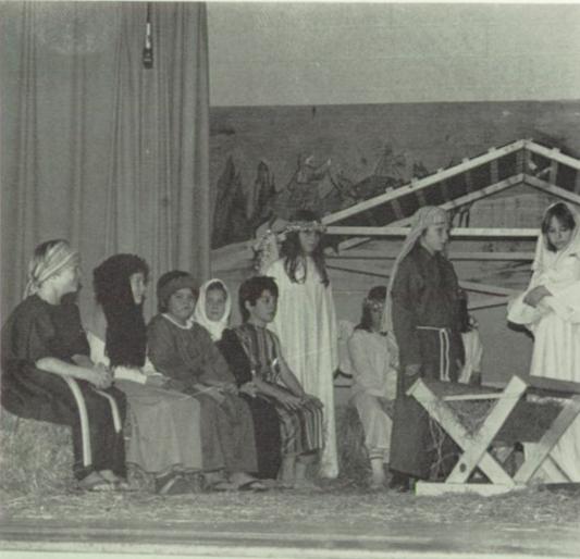 Back when public schools still had annual Christmas Nativity Scenes   Picher-Cardin High School Yearbook, 1983