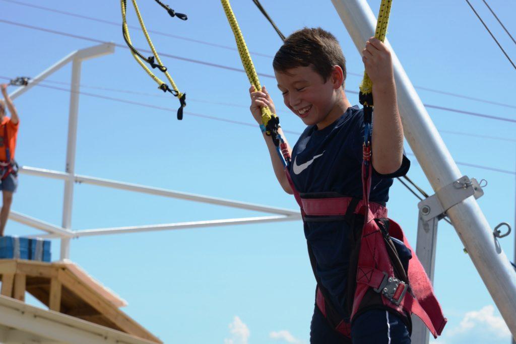 Adventure boathouse birthday trampoline