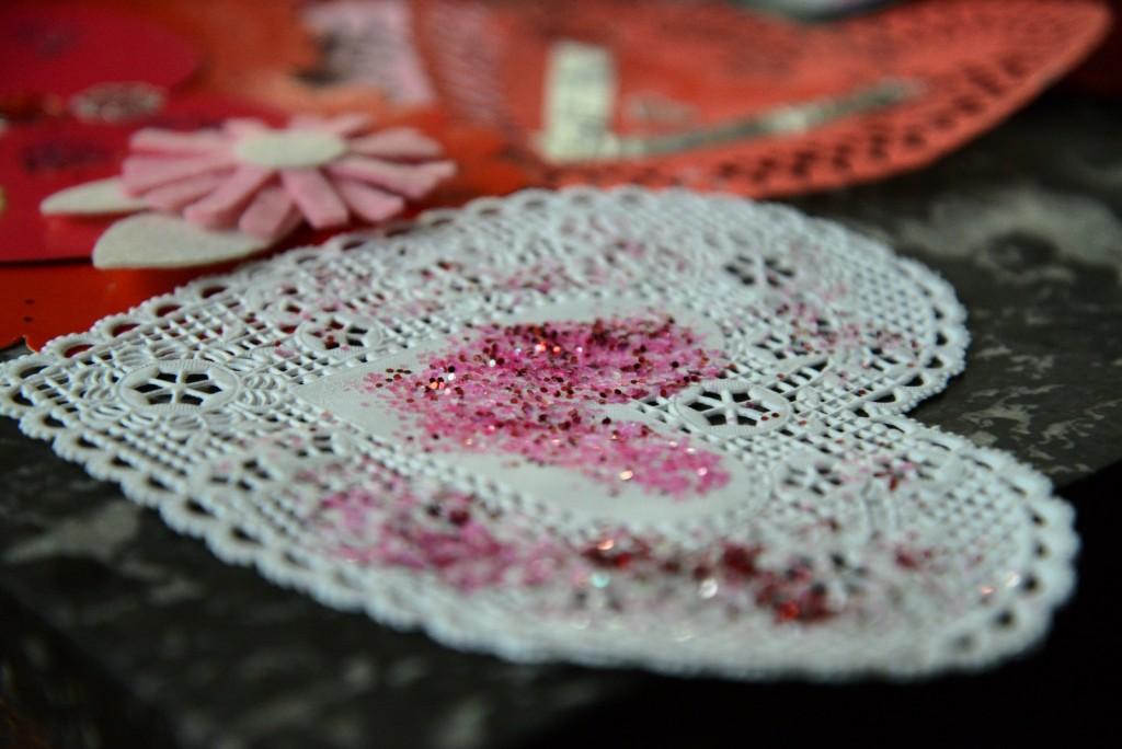 valentine doily craft