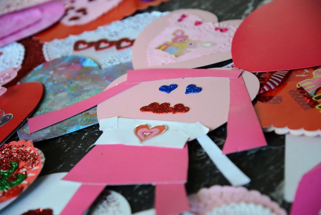 homemade valentine girl