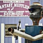Fantasy Muffler Robot Made Out of a Muffler