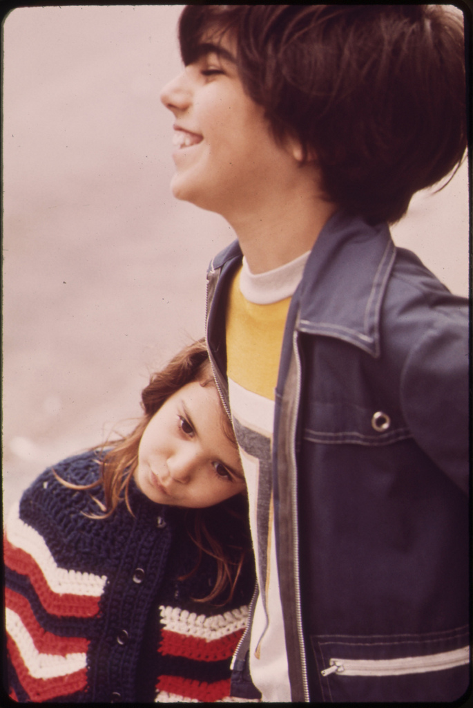 Boy and Girl in 1970s Pancho