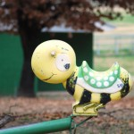 Old Playground Equipment, Yellow and Green Snail