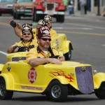 Little Yellow Cars, Parade, India Shriners