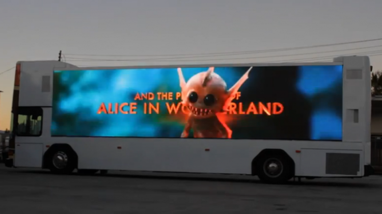 Zeusvision Ad on Bus Digital
