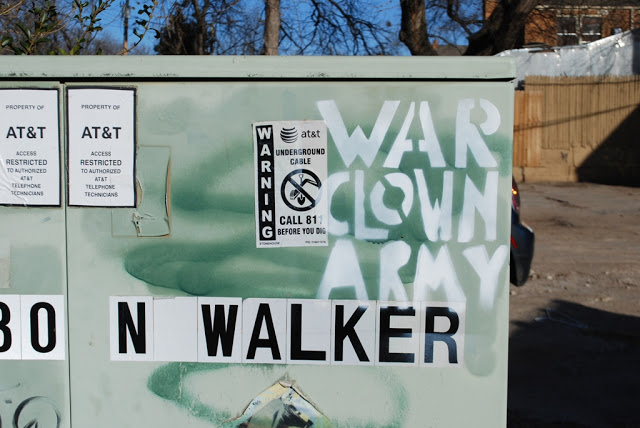 War Clown Army graffiti