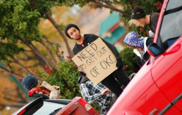 oung people panhandling