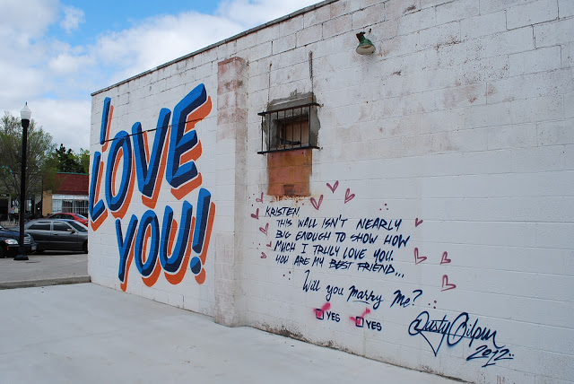 I LOVE YOU Graffiti and Marriage Proposal